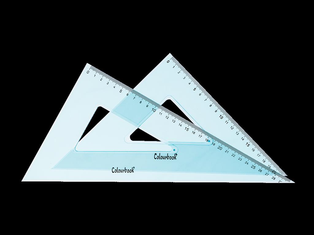 COPPIA SQUADRE 45° e 60° – 32 CM