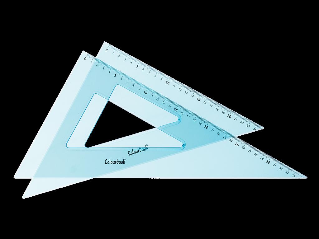 COPPIA SQUADRE 45° e 60° – 35 CM