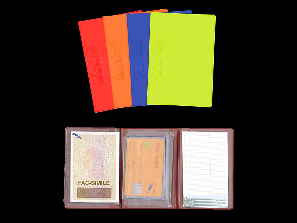 PORTA CARDS E CARTA D'IDENTITÀ CON RUBRICA